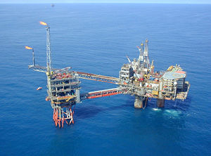 Exxon Mobile Oil Platform in the North Sea.