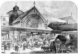 Borough Market, circa 1860. From the Illustrat...