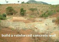 Sand dam construction