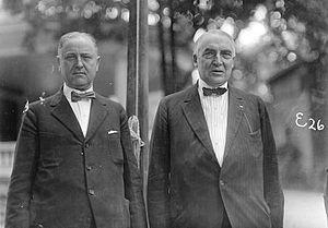 Political boss Harry M. Daugherty (later Attor...