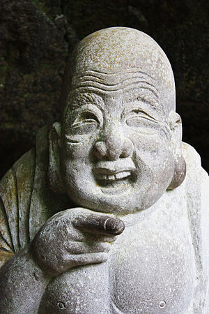 Hotei, god of happiness at J%u014Dchi-ji temple