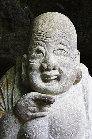 Hotei, god of happiness at J%u014Dchi-ji temple