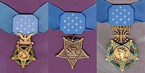 English: The Medals of Honor awarded by each o...