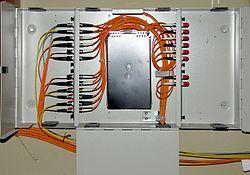 Telephone Network Interface Box Wiring تابلوی توزیع ویکی پدیا، دانشنامهٔ آزاد