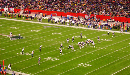 The Patriots spread it out against the Eagles in 2007.