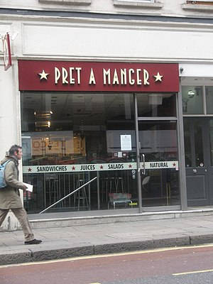 English: Pret a manger in Cheapside