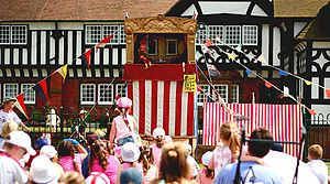 Punch and Judy puppet show Thornton Hough, England