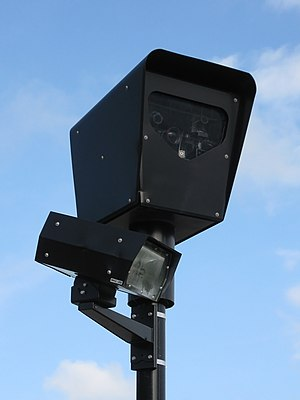 A red light camera in Chicago, USA. Français :...