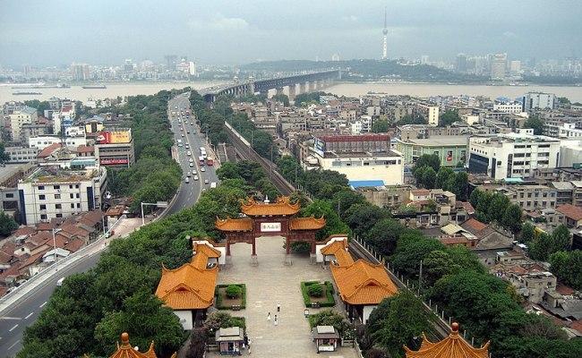 File Wuhan From Yellow Crane Tower Jpg Wikipedia
