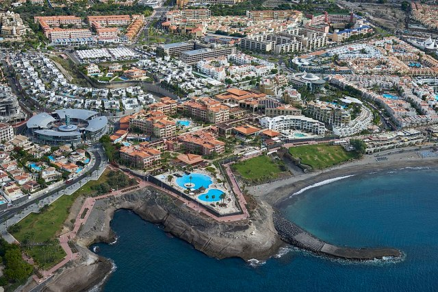 A0417 Tenerife, Hotels in Adeje aerial view