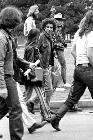 Abbie Hoffman visiting the University of Oklah...