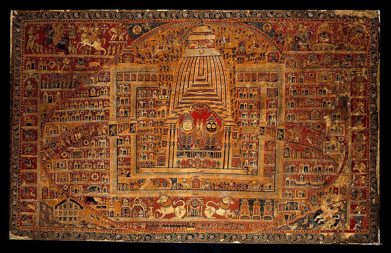 Old Wood Wallpaper Hd File Balarama Subhadra And Jagannath In The Temple At