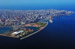 Vista de la ciudad de Beirut, Líbano.