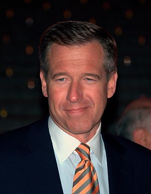 Brian Williams at the Vanity Fair celebration ...