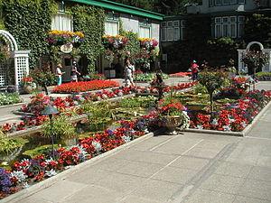Italian garden of the