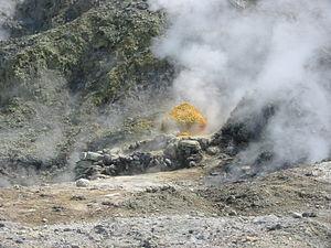 Sulfur at the Solfatara crater