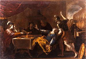 The Banquet of Absalom attributed to Niccolò d...