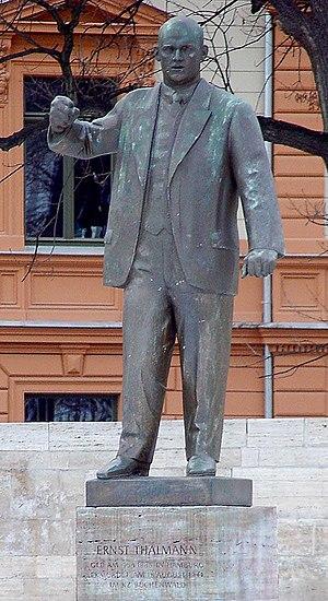 Ernst Thälmann statue in Weimar.
