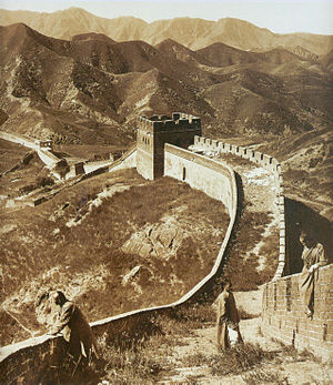 Photograph of The Great Wall of China from 1907.