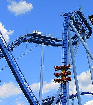 English: griffon; tallest dive coaster