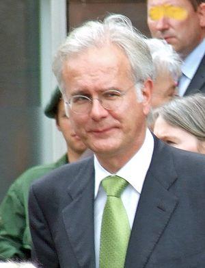 Harald Schmidt nach der Boernepreisverleihung ...