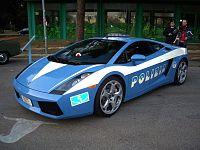La Lamborghini Gallardo, in dotazione alla Polizia Stradale per la vigilanza autostradale