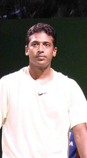 Mahesh Bhupathi at the 2007 Australian Open, d...