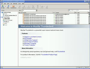 English: Mozilla Thunderbird (SuSe Linux 9.3/K...
