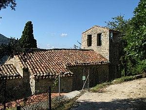 """Deutsch: Romanische Kapelle """"Sant Miquel ..."""