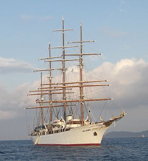 4-masted barque Sea Cloud. September 10th, 200...