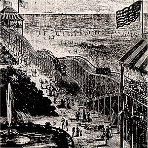 Thompson's Switchback Railway, 1884.
