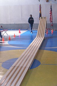 Pinewood Derby track at St.