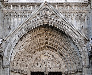 Tympanum of Door of Forgiveness, Cathedral of ...