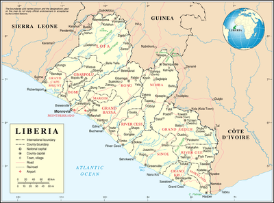 administrative divisions of liberia