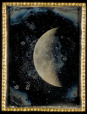 """English: """"View of the Moon,"""" daguerr..."""