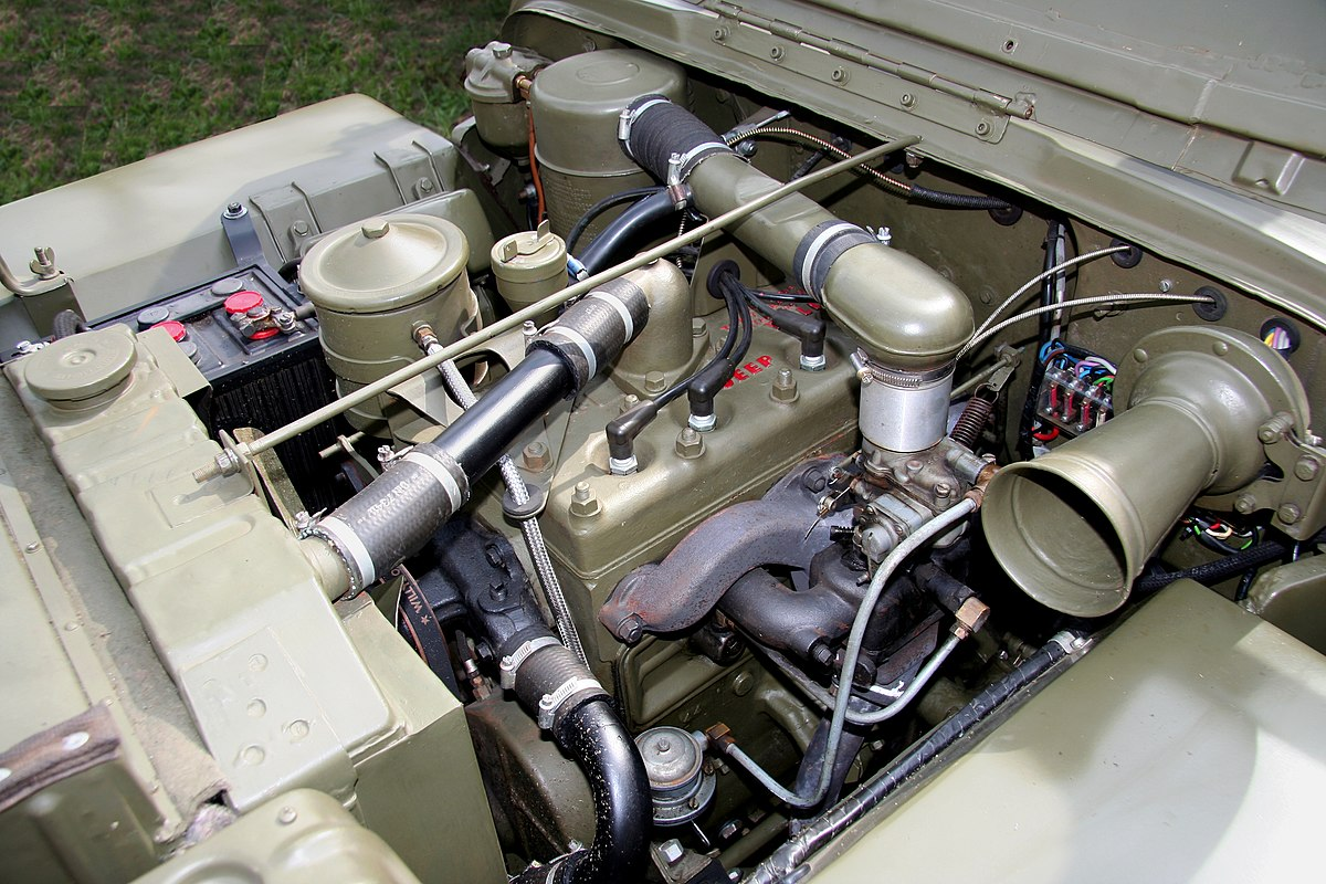 jeep cj2a wiring diagram dual battery ford ranger willys go devil engine - wikipedia