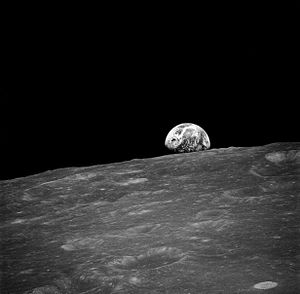 "First ever ""Earthrise"" photograph, t..."