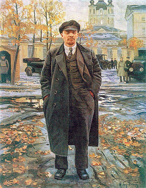 Painting of Lenin in front of the Smolny Institute, circa 1925,  by Isaak Brodsky - Wikipedia