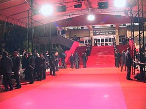 Red carpet of the Palais des Festivals et des ...
