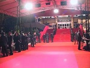 Red carpet of the Palais des Festivals et des ...