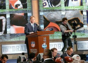 Roger Goodell at the 2010 NFL Draft.