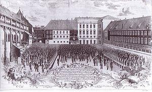 Deutsch: Huldigung für König Friedrich Wilhelm...
