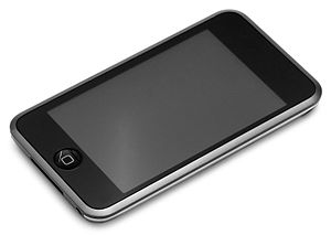 English: The 1st generation iPod Touch, with a...