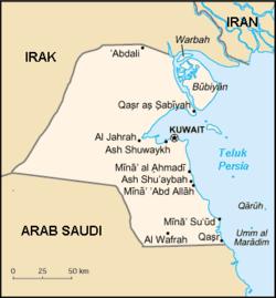 Peta Kuwait
