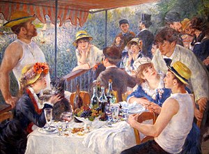 English: Luncheon of the Boating Party (1881, ...