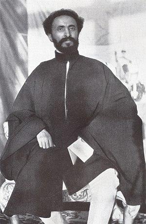 Ethiopian Emperor Haile Selassie in February 1...