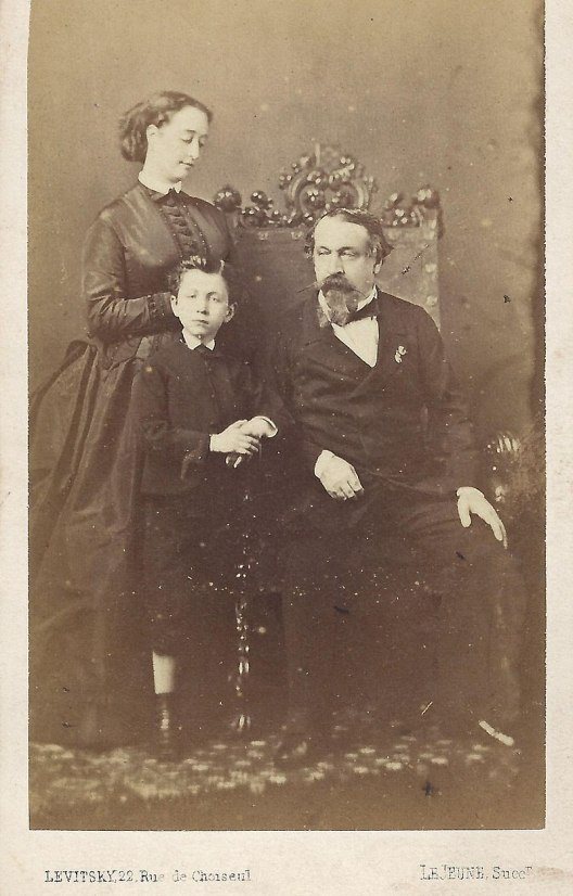 Napoleon with his wife and son, c1862. source: Wikipedia