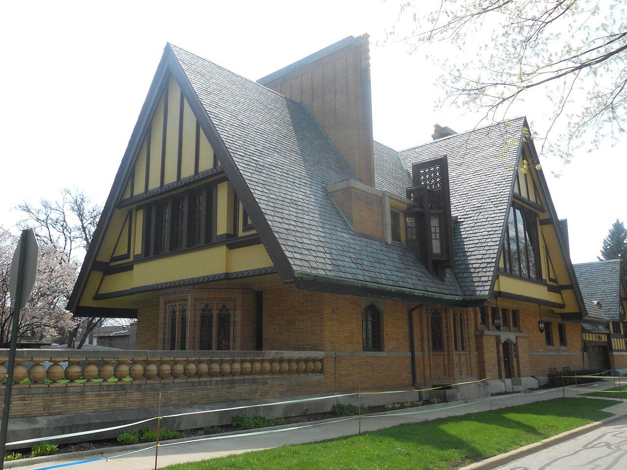 FileNathan G Moore House 1895 Oak Park IL RearJPG