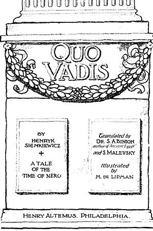 Title Page, Quo Vadis