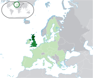 Location map: Scotland (dark green) / United K...